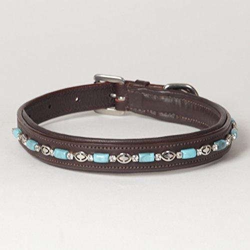 (Medium Genuine Leather Beaded Padded Decorated Rhinestone