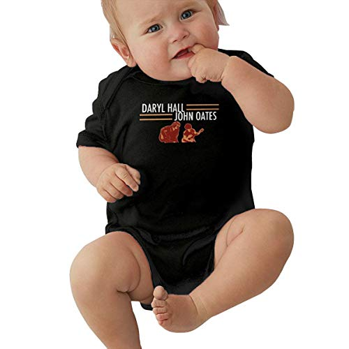 Daryl Hall John Oates Funny Black Short Sleeve Baby Romper 0-3M