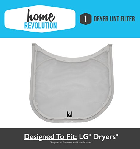 LG Dryer Lint Filter Assembly; Fits LG 5231EL1003B, 5231EL1003B 5231EL1003E, 5231EL1002E & Kenmore ADQ56656401; Home Revolution Brand Replacement
