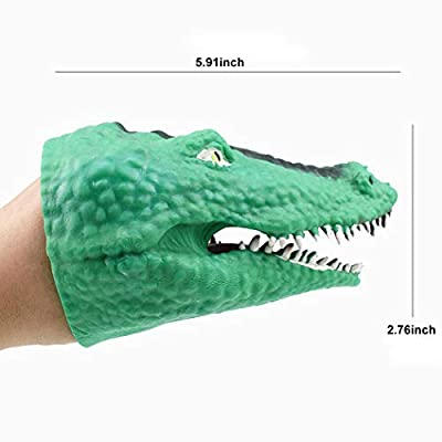 Hand Puppet Toy Novelty Rubber Dinosaur Head Toy Animal Hand Puppet for Kids: Everything Else