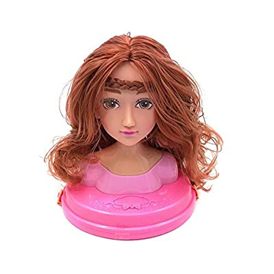 Children Dressing Makeup Doll Priness Styling Head Doll Dressing Make Up Simulation Doll Girl Prentend Play Make Up Doll Dresser Toys 30.4x18.7x26.4cm : Baby