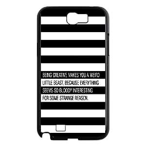 Samsung Galaxy N2 7100 Cell Phone Case Black quotes being creative weird Mxalo