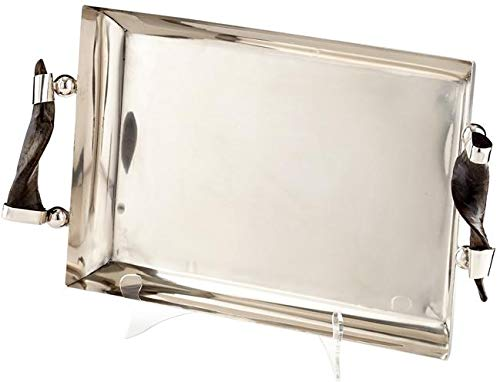 - Cyan Design Tray Arezzo Transitional Gold Leaf Horn Stainless Steel Iron