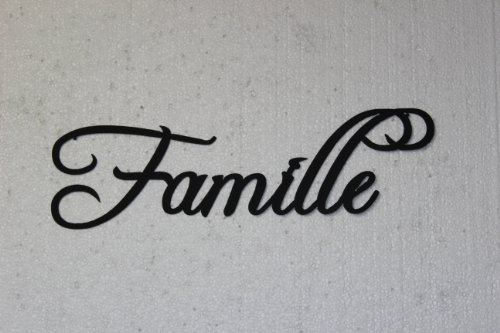 Family Word Home Decor Metal Wall Art ~ Famille word french for family home decor metal wall