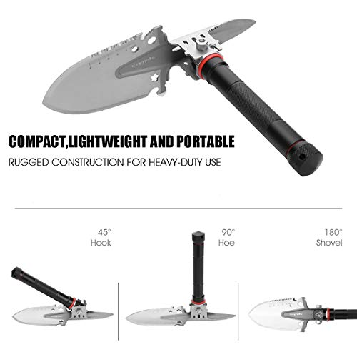 Cysikop Military Portable Folding Survival Shovel and Pickax Entrenching Tool for Off Road, Camping, Gardening, Beach, Digging Dirt, Sand, Mud & Snow by Cysikop (Image #1)