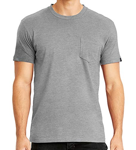 Men's Premium Cotton Jersey Crew Neck Plain and Heather Pocket T-Shirts