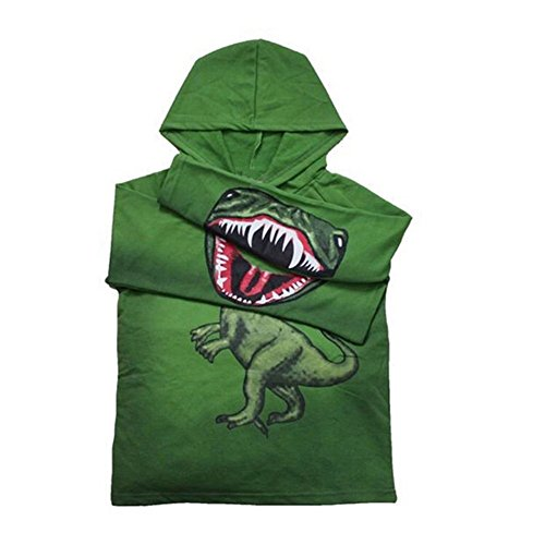 Baby Boys Hooded Cartoon Dinosaur Jacket Hallowmas Coats (3-4Years, (Dinosaur Hoodie)
