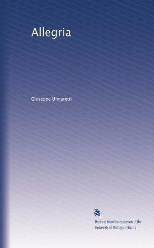 Allegria (Italian Edition)