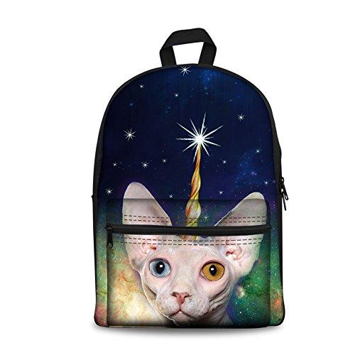 CC3654J Galaxy Cat Bolso Galaxy 5 Hombro Cat K Coloranimal Large para 7 al Mujer PF5n8