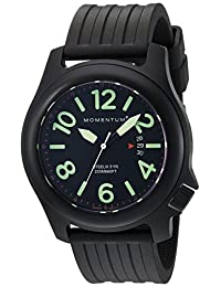 Momentum Men's 1M-SP84B1B Steelix Analog Display Japanese Quartz Black Watch
