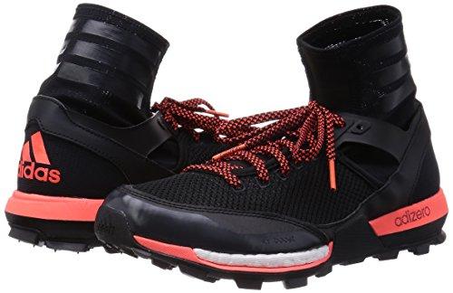 Adidas Adizero Xt 5 Boost escursionismo scarpe, nero / grigio scuro / rosso solare, noi 6 M Nero
