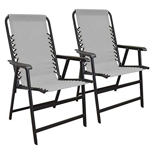 Caravan Canopy Infinity Suspension Steel Frame Folding Chair, Gray (2 ()