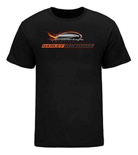 Harley-Davidson Men's Screamin' Eagle HD Pipes Short Sleeve Tee HARLMT0260 (2XL) (Harley Eagle Screamin)