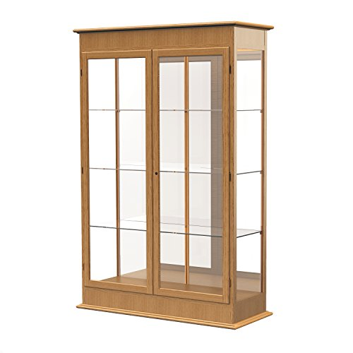 - Waddell Varsity Hinged Doors Lighted Display Case, 48W by 77H by 18