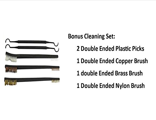 TekMat 11-Inch X 17-Inch Handgun Cleaning Mat with Police Thin Blue Line Bonus 5 oc Gun Cleaning Brush & Pick Set by EDOG (Image #2)