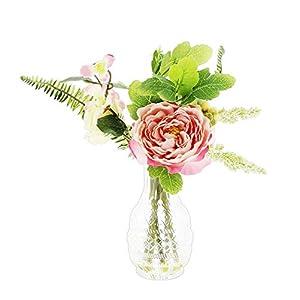 "DCC Artificial Premade Mixed Floral Arrangement in Glass Jar, 10"" 54"