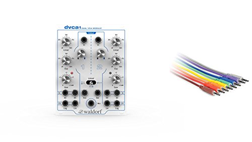 Waldorf DVCA Eurorack VCA w/ Hosa CMM-890 8-Pack of 3-foot CV Patch Cables by Waldorf