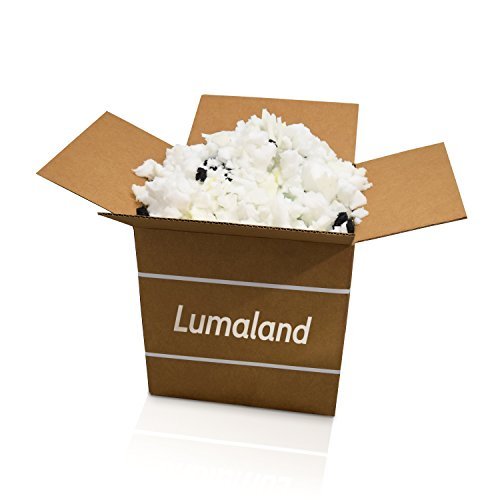 - Lumaland Shredded Memory Foam | Fill Replacement for Bean Bags, Chairs, Pillows, Cushions, Dog Beds and Crafts | 100% Made in USA (2.5 LBs)