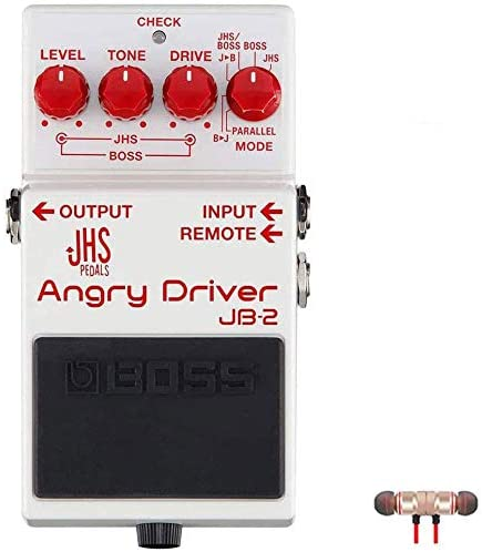 BOSS JHS JB-2 Angry Driver Over Drive Pedal for Electric Guitar includes Free Wireless Earbuds