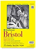 Strathmore 300 Series Bristol Board Pads - 14 x 17, Bristol Pad, 20 sheets, Vellum