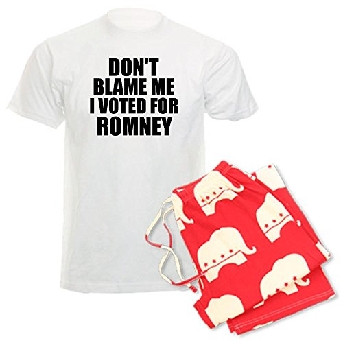 CafePress I voted Romney Men's Light Pajamas Men's Pajamas - XL With Republican