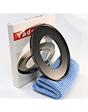 Yadsux 49mm to 67mm Step-Up Lens Adapter Ring for Camera Lenses Filters,Metal Filters Step Up Ring Adapter,The Connection 49MM Lens to 67MM Filter Lens Accessory,Cleaning Cloth with Lens