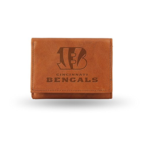 NFL Cincinnati Bengals Embossed Genuine Cowhide Leather Trifold Leather Wallet