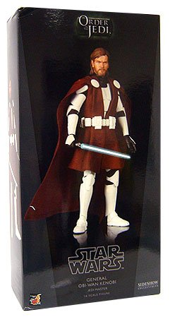 Sideshow Collectibles Order of the Jedi Deluxe 12 Inch Action Figure Clone Wars General Obi-Wan Kenobi