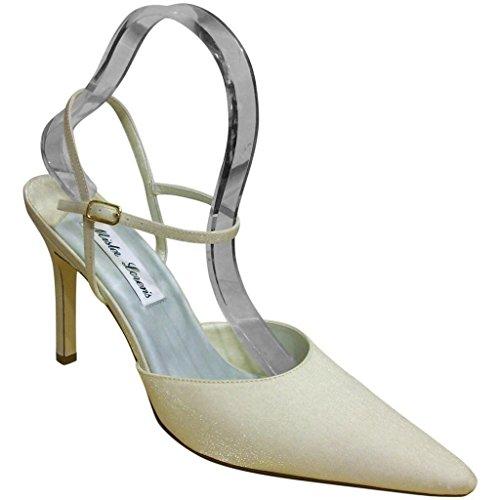 Zapatos De Tacón De Aguja J. Loren Mujeres 444 Stylish Pointed Toe Oyster
