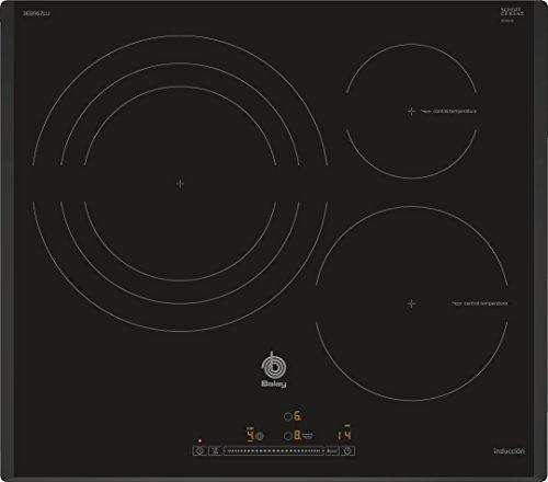Balay 3EB967LU hobs Negro Integrado Con - Placa (Negro, Integrado, Con placa de inducción, 1400 W, 14,5 cm, 2200 W)