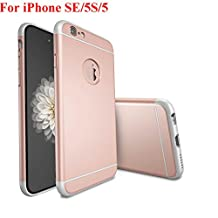 iPhone SE Case, iPhone 5 Case, iPhone 5S Case, Asstar Luxury 3in1 Ultra-thin Hard Plastic Premium Shock Anti Scratch Shockproof Cover Skin Hard PC Back Case for iPhone 5S (Rose gold)