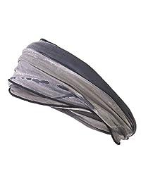Casualbox mens Elastic headband Hand Dyed Japanese Bandana Black