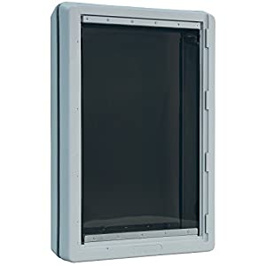 Ideal Pet Products Designer Series Ruff-Weather Pet Door with Telescoping Frame, Super Large, 15″ x 23.5″ Flap Size