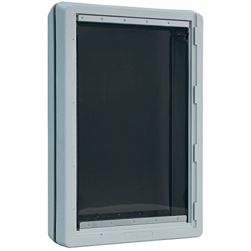 (Ideal Pet Products Designer Series Ruff-Weather Pet Door with Telescoping Frame, Super Large, 15