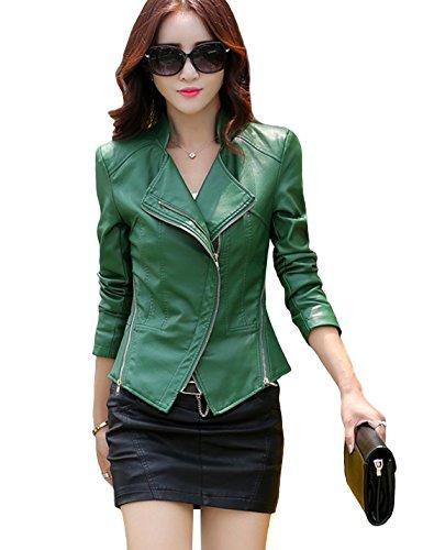 Green Motorcycle Jacket - 6