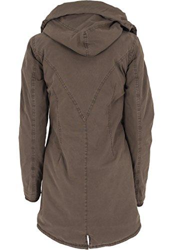 Urban Mujer Washed Classics Jacke Parka Chaqueta Verde Olive Garment Long rwrapB