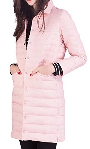 Women's Jackets Long Puffer Generic Ultra Pink Light Down Packable dAz0q6