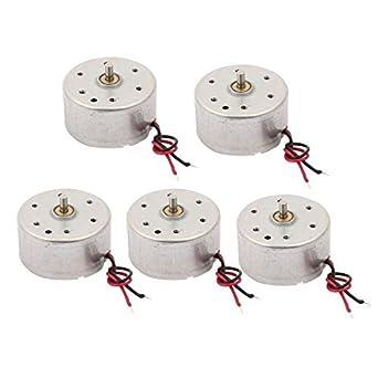 eDealMax 5pcs DC 1.5-6V 3500rpm 2 Micro Wired vibración del Motor de CC Para masajeador eléctrico: Amazon.com: Industrial & Scientific
