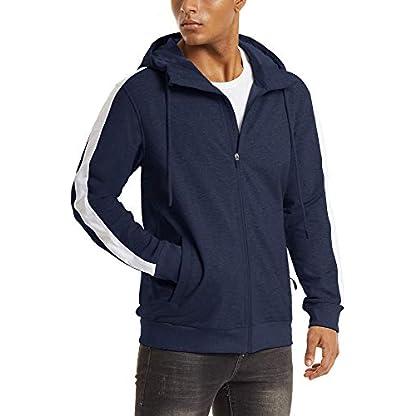 TACVASEN Men's Hoodie Fleece Hooded Sweatshirt Full Zip Sport Casual Jacket Hoody 1