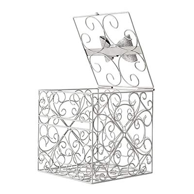 Silver Bow Tie Reception Gift Card Holder