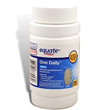 Equate - One Daily Multivitamin, Mens Health Formula, 100 Tablets