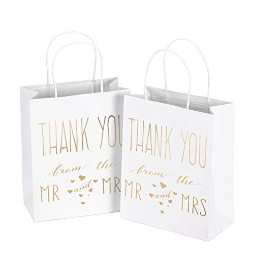 (LaRibbons Medium Size Gift Bags - Gold Foil