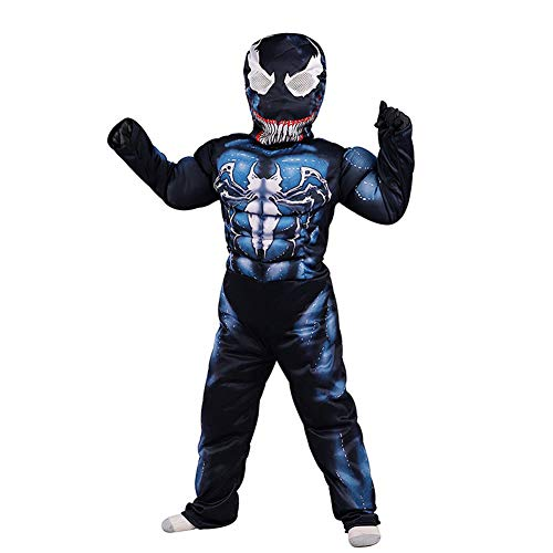 Venom Costume Kids,3D Venom Cosplay Costume for Boys Bodysuit Romper