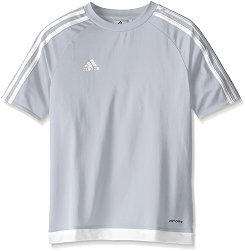 adidas Kids' Soccer Estro Jersey, Light Grey/White, Small ()