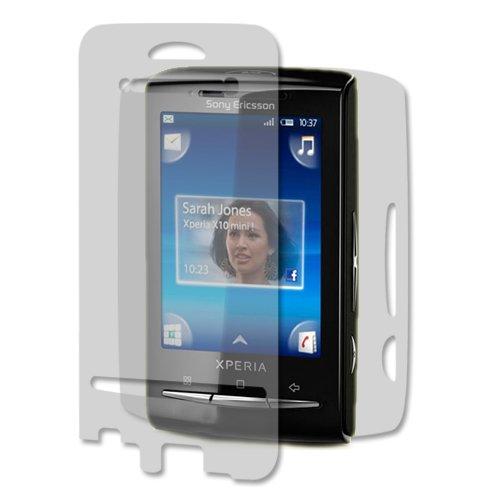 Sony Ericsson Xperia X10 mini Screen Protector + Full Body, Skinomi TechSkin Full Coverage Skin + Screen Protector for Sony Ericsson Xperia X10 mini Front & Back Clear HD Film - Ericsson Protector