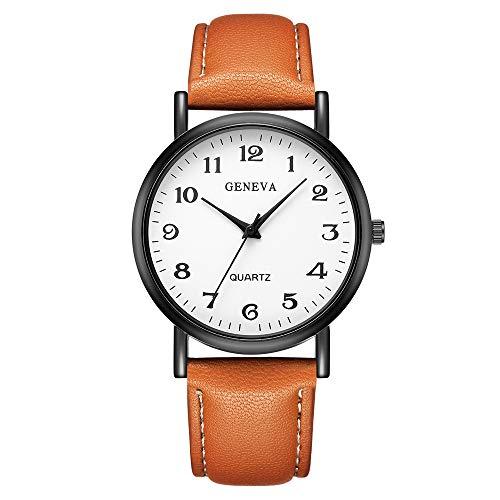 LuckUK Men Watches,Boy Watches,Sport Watches,Digital Watches,Men's Stainless Steel Case Leather Watch Strap Analog…
