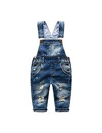 Kids Little Boys Jeans Baby Long Romper Denim Pant Beggar Clothes Overalls 2-6T