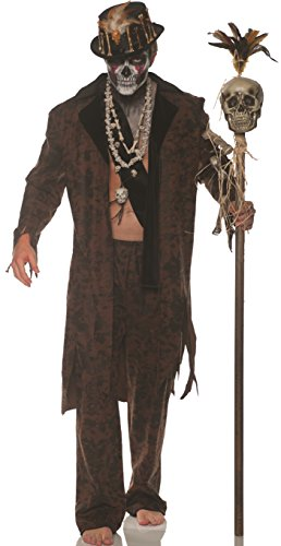 Underwraps Men's Witch Doctor Costume, Brown, One Size ()
