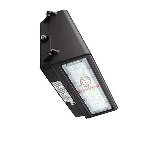 (40 Watt LED Wall Pack Light - Tucana Series Full Cut Off - 5,200 Lumens- 5000K - with Dusk to Dawn Sensor -Replaces 250 watt Metal halide/HPS- Dark Sky Compliant Full Cutoff Wall Light)