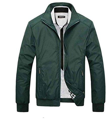 Xl Casual Primavera Cappotti Moda Slim Giaccone Sottile Cappotto Collare Giacche Jacket Green Copricapo Di Arrivo Uomo wqRHRZB